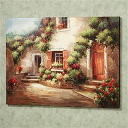 Courtyard Ambiance Canvas Art Multi Earth