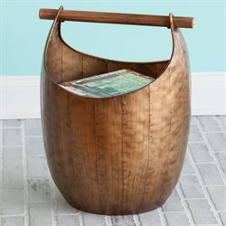 Scoop Basket with Handle Bronze