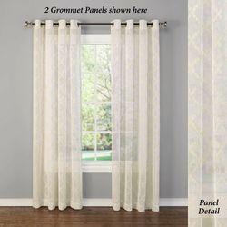 Leola Sheer Grommet Curtain Panel Light Cream 55 x 84
