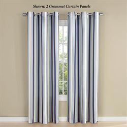 Clive Grommet Curtain Panel Navy 48 x 84