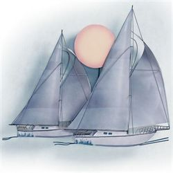 Sunset Sail Metal Wall Sculpture