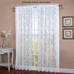 Seslee Sheer Curtain Panel White