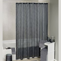 Royce Semi Sheer Shower Curtain Dark Gray 72 x 72