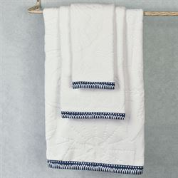 Mykonos Bath Towel Set White Bath Hand Fingertip