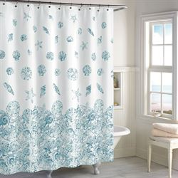 Mykonos Shower Curtain White 72 x 72