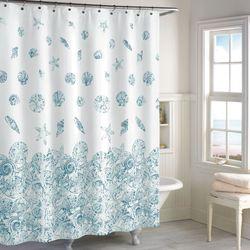 Mykonos Seashell Coastal Shower Curtain