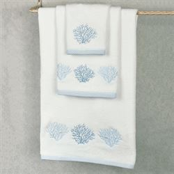 Sea Reef Bath Towel Set White Bath Hand Wash