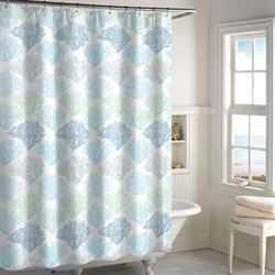 Sea Reef Semi Sheer Shower Curtain White 72 x 72