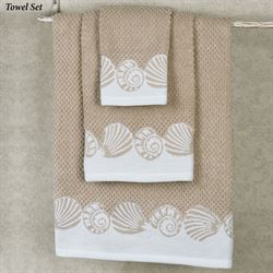 Cape May Bath Towel Set Khaki Bath Hand Fingertip