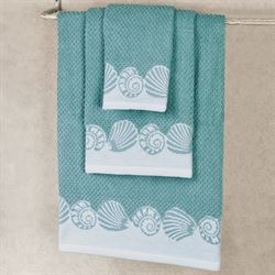 Cape May Bath Towel Set Teal Bath Hand Fingertip
