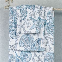 Key Largo Bath Towel Set Blue Bath Hand Fingertip