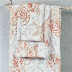 Key Largo Bath Towel Set Coral Bath Hand Fingertip