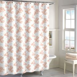 Key Largo Shower Curtain Coral 72 x 72