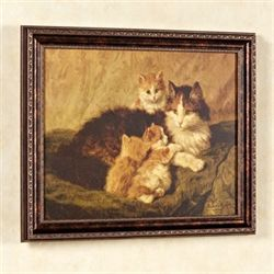 Contentment Cat Wall Art Brown