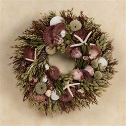 Seashells and Wheat Wreath Multi Earth