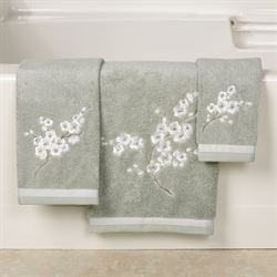 Mika Bath Towel Set Slate Green Bath Hand Fingertip