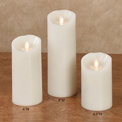Adele LED Pillar Candle Ivory
