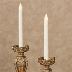 Chloe LED 10 Inch Taper Candles Ivory Set of Two