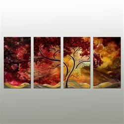 Brilliant Glow Metal Wall Sculpture Set Multi Warm Set of Four