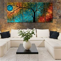 Contrasting Beauty Wall Sculpture Set Multi Metallic Set of Five