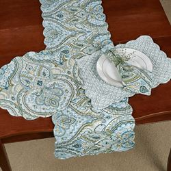 Amherst Reversible Table Runner Blue 14 x 51