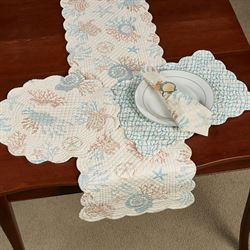 Seabrook Reversible Table Runner Multi Pastel 14 x 51