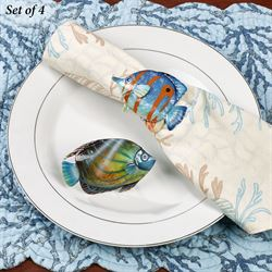 Bermuda Fish Napkin Rings Multi Bright Set of Four