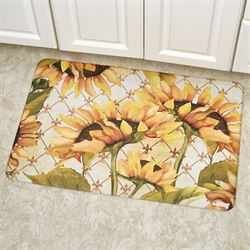 Sunflowers in Bloom Cushioned Floor Mat Yellow 30 x 20