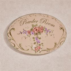 Emma Powder Room Wall Plaque Multi Pastel
