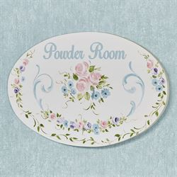 Sophia Powder Room Plaque Multi Pastel