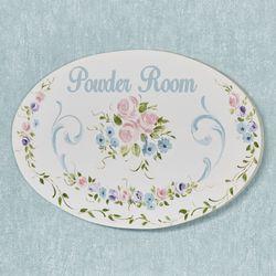 Sophia Powder Room Plaque Multi Pastel