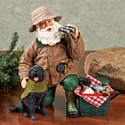 The Great Outdoors Clothtique Santa Brown Set of Two