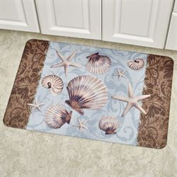 Coastal Charm Cushioned Floor Mat Multi Pastel 30 x 20