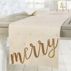 Merry Table Runner Light Cream 16 x 90