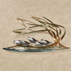 Beach Patrol Sandpiper Wall Sculpture Multi Metallic