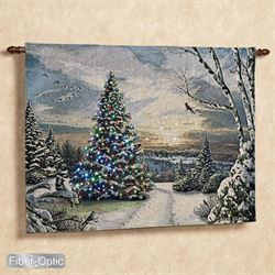 Christmas Morning II Lighted Wall Tapestry Blue
