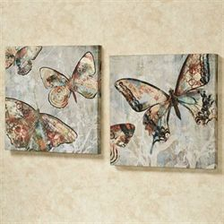 Winged Beauties Canvas Art Multi Cool Set of Two