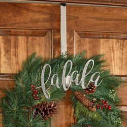 Fa La La Wreath Hanger Silver