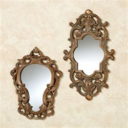 Alessa Wall Mirrors Satin Gold Set of Two
