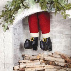 Whimsical Santa Legs Red 1 Pair