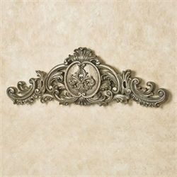 Kingsley Fleur Wall Topper Antique Silver