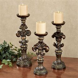 Antonia Candleholders Bronze/Gold Set of Three