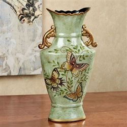 Dancing Butterflies Table Vase Jade