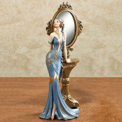 Femme Boudoir Vanity Lady Figurine Blue