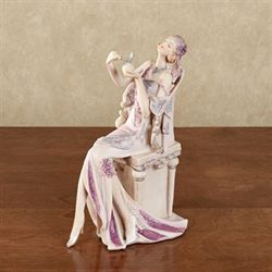 Graceful Beauty Parfum Lady Figurine Lilac