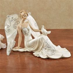 Angel of Peace Figurine Pearl