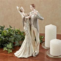 Lovers Waltz Dancing Figurine Ivory