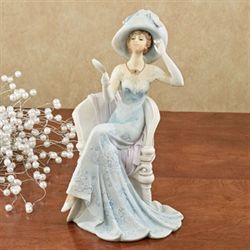 Evening Elegance Lady Figurine Light Blue