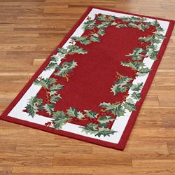 Holly Border Rectangle Rug Red 29 x 6