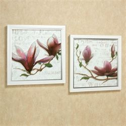 Jemmas Floral Framed Wall Art White Set of Two